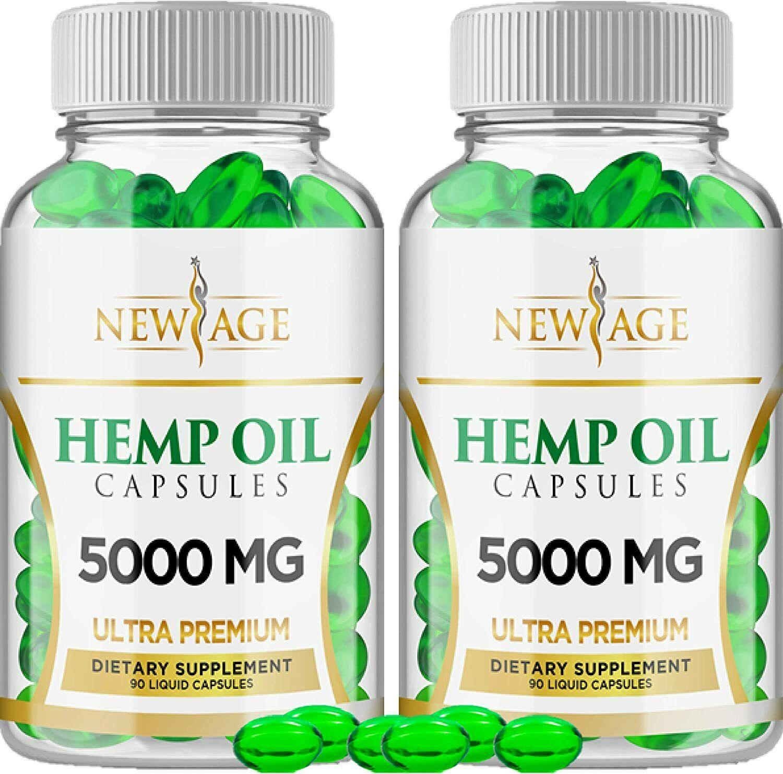 Hemp Oil Capsules Pills Natural Pure Extract Pain Stress Anxiety Sleep Mood