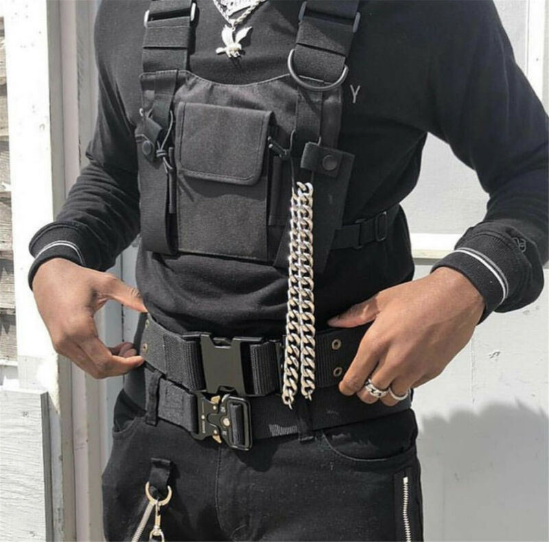 Radio Chest Harness Chest Talkie Pouch Holster Vest Rig for Portable Radio Rescu