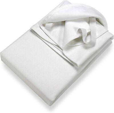 Molton Matratzenschutz 180 x 200 cm weiß Eckgummis 100 % Baumwolle ÖkoTex