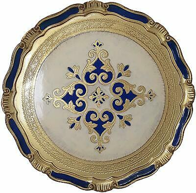 Florentine Large Round Wooden Tray - Made in Italy