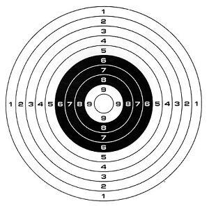 200 Air Rifle Shooting Paper Targets 14cm Pistol Airsoft Gun ( 100gsm