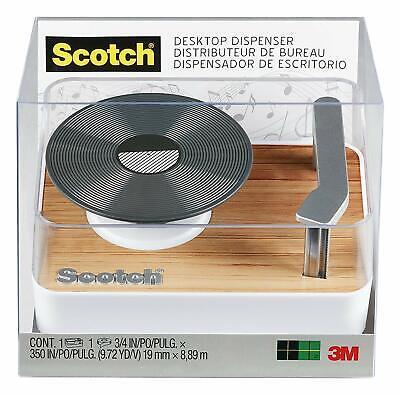 Turntable Scotch Magic Transparent Invisible Tape Dispenser Lp Record Player