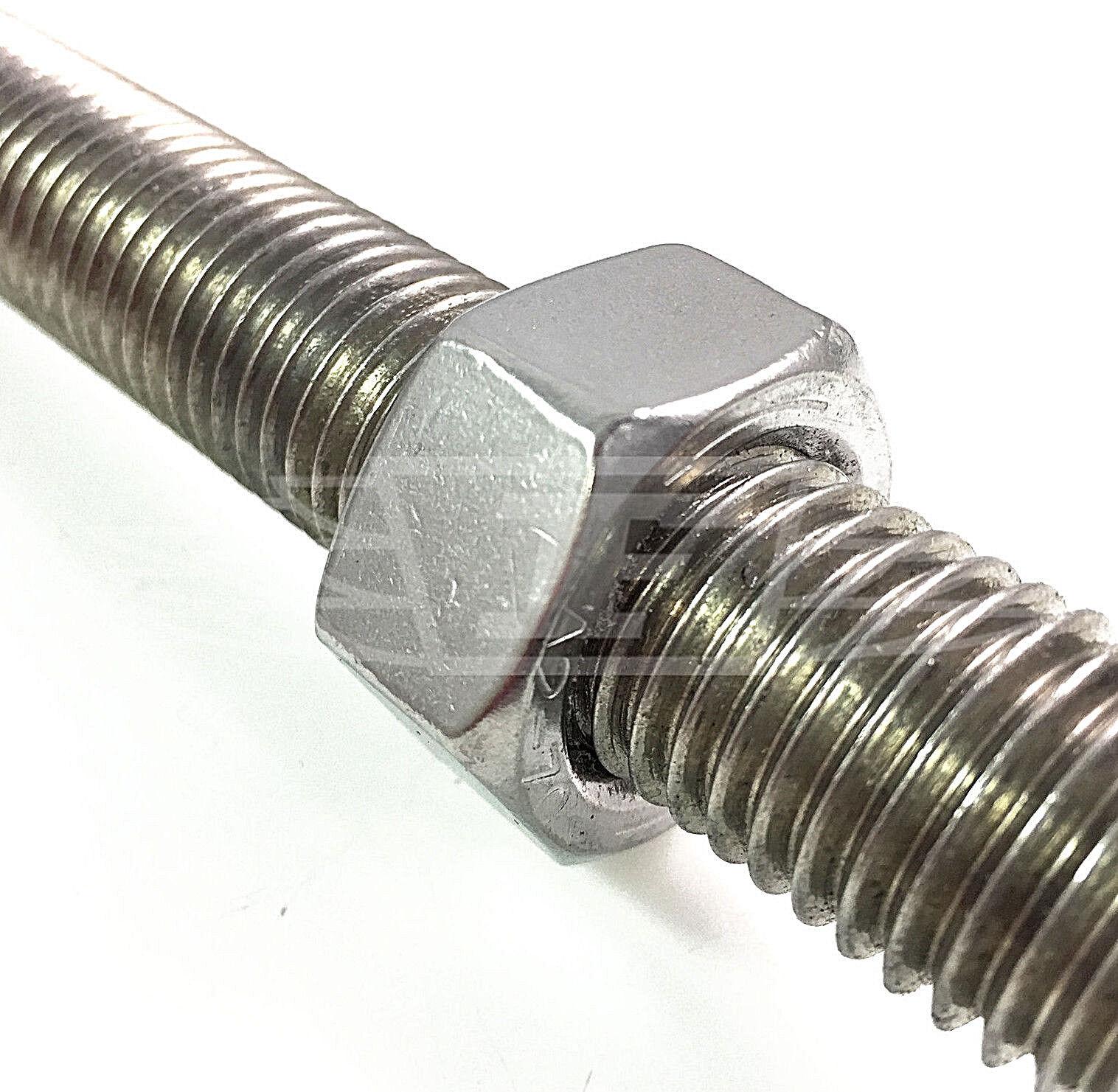M6 M8 M10 M12 M16 M20 Acciaio Inox A2 Din 976 Mano Sinistra Filettata barra Stud Rod