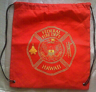 Federal Fire Department Hawaii Tote Carry Bag Fire Department Bag