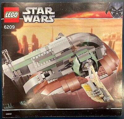 Lego Star Wars Boba Fett Slave I 6209 100% Cmplte! Rare! All Figs! Manual No Box