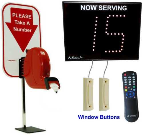 Take-a-Number System w/ ticket dispenser (alzw01a)