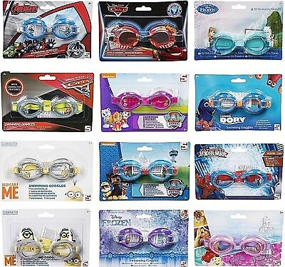 Princess Swimming Goggles (Kids Swimming Goggles Boys Girls Children Cars Frozen Paw Patrol Minion)
