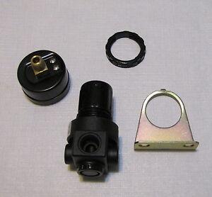 New air pressure regulator w gauge mtg brkt and nut 1 4 npt for air