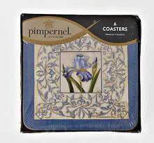 6 DRINK COASTERS DEPICTING IRISES - MADE BY PIMPERNEL - BRAND NEW Duncraig Joondalup Area Preview