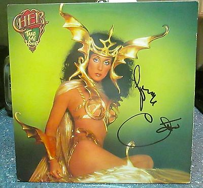 "Cher signed Take Me Home 12"" LP"