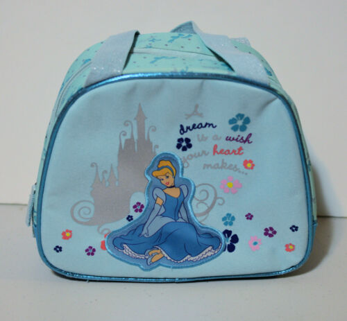 Disney Store Cinderella Insulated Lunch Bag Tote Blue