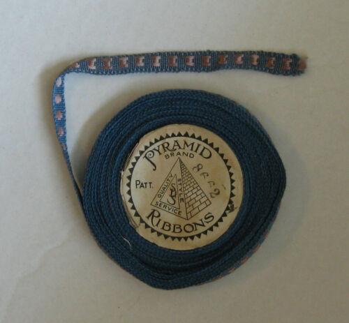 "Vintage Braided Ribbon 7/16"" x 10 yards blue and lavendar Pyramid Brand 8662"