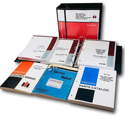International 966 1066 Hydrostatic Tractor Service Parts Operators Manual Set Oh