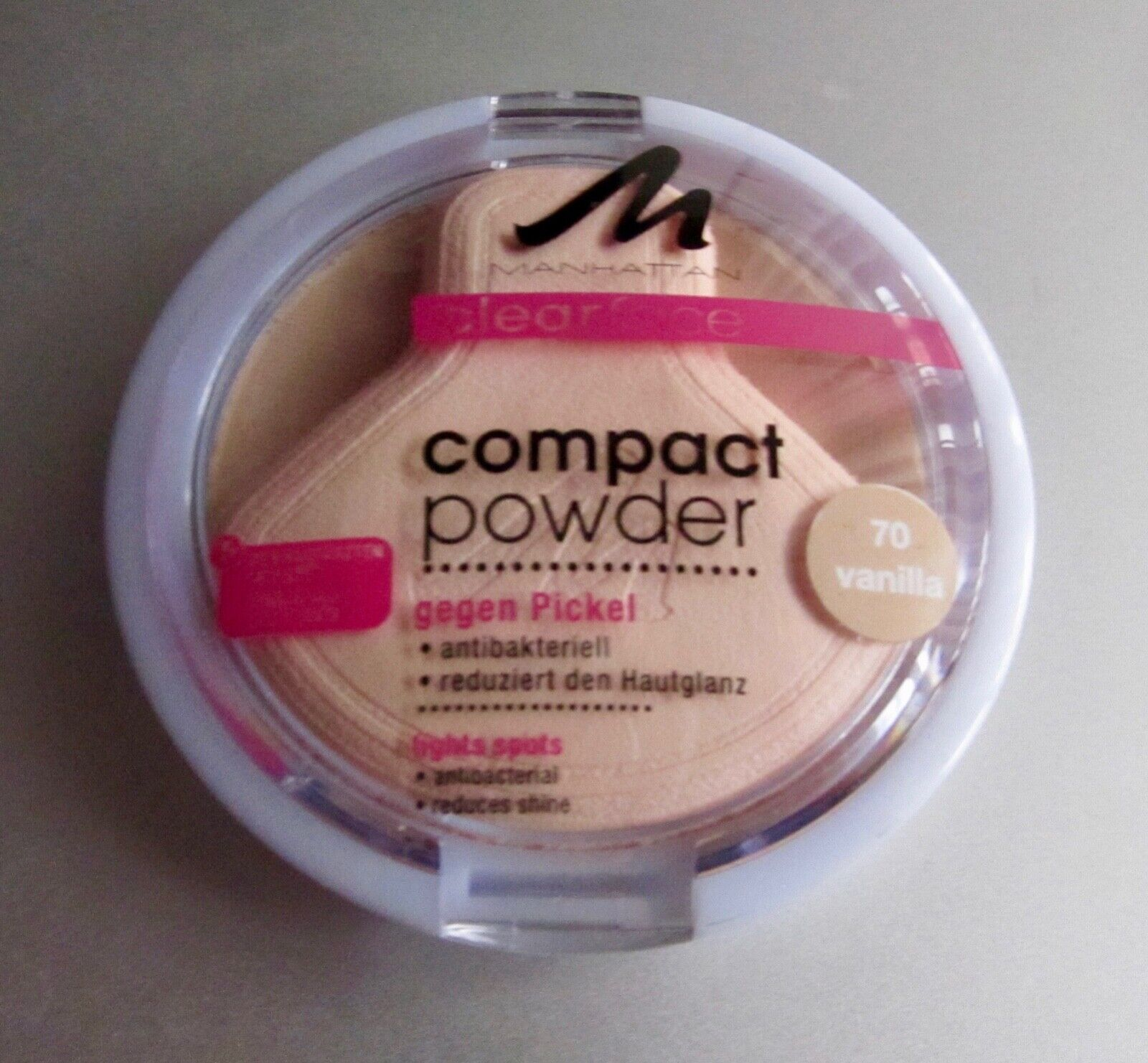 Manhattan Clearface Compact Powder 70 Vanilla * Puder Make-up antibakteriell