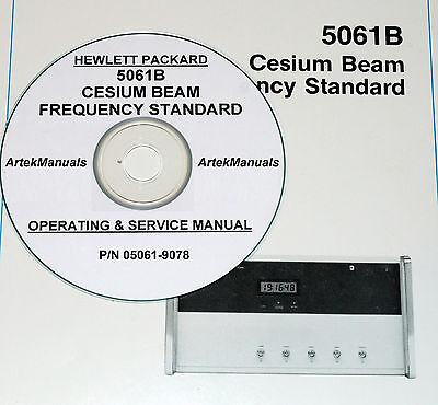 Hp 5061b Cesium Beam Freq Standard Service Ops Manual