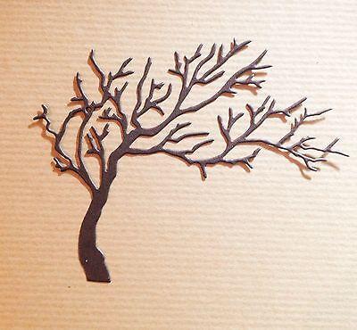 New Wide Bare Tree Die-cuts (Dark Brown)