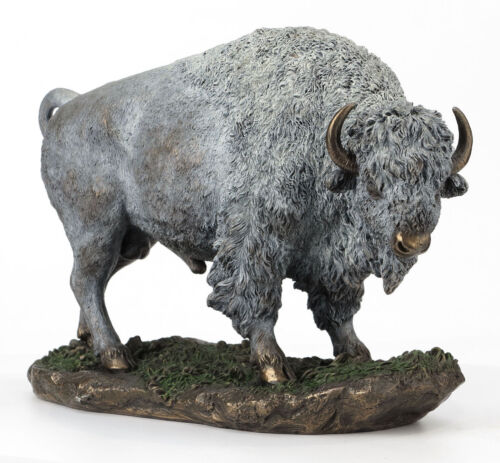 American Buffalo Bison Statue Sculpture Collectible Figurine *HOME DECOR