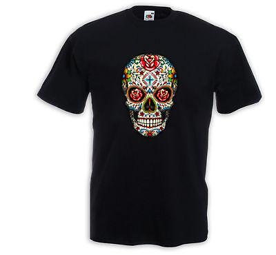 Mexican T-Shirt Mariachi 6 Sugar Skull Rockabilly Dia de los Muertos