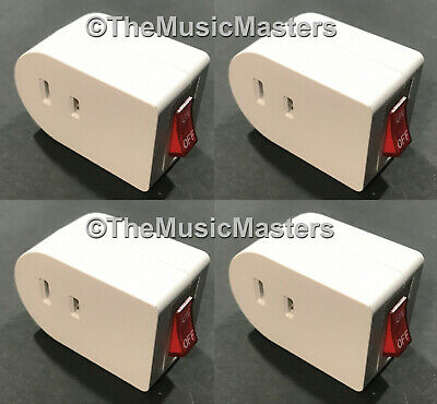 4x Single Outlet Ac Wall Plug Onoff Lighted Power Switch Electrical Adapter