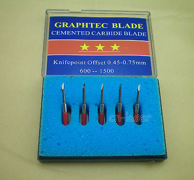 5pcs 45 Hq Graphtec Cb 15 Blades For Vinyl Cutter Cutting Plotter
