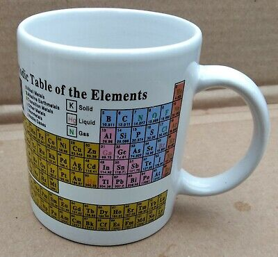 Periodic Table of the Elements Caffco 1992 Coffee Tea Cup Mug (Periodic Table Cup)