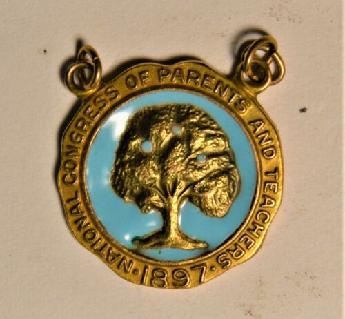 1897 NATIONAL CONGRESS OF PARENTS AND TEACHERS 10K GOLD (NOT PLATED) MEDAL