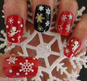 Christmas-Snowflakes-Design-3D-Nail-Art-Stickers-Decals-NEW-UK-SELLER-SN