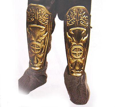 Roman Ancient Warrior Army Greek Armor Shin Leg Guards Adult Halloween Costume