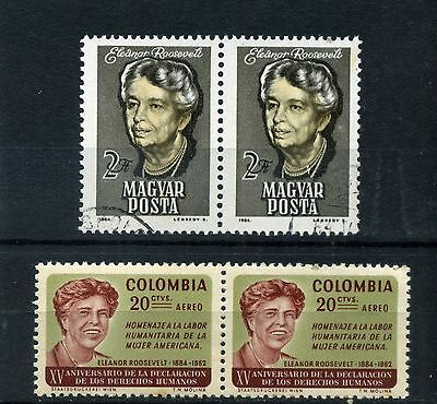 ELEANOR ROOSEVELT [ U.S.A.]-  >> COLOMBIA-/  HUNGARY/  pairs hor.  1964