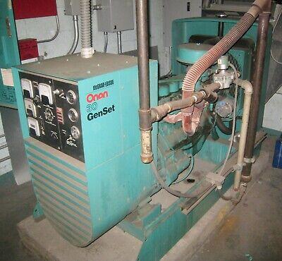 Onan 30kw Genset 1176 Hours 4.9l Ford Natural Gas Engine 208 240 480 V 3