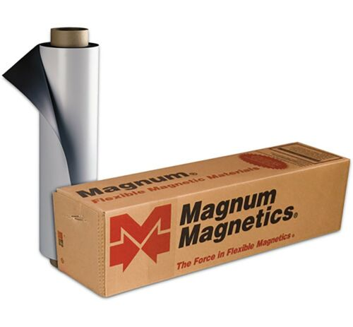 """1 ROLL 12"""" width x 5 FEET 30 Mil. Blank Magnetic Sign Sheet Cars Magnum Nextday"""