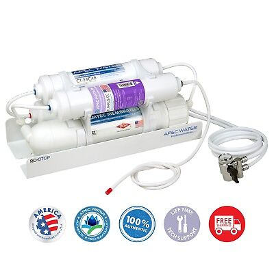 APEC WATER 4-Stage Alkaline 90 GPD Counter-top Reverse Osmos
