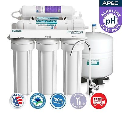 APEC WATER 6 The West End 75 GPD Alkaline Reverse Osmosis Water Filter System ROES-PH75
