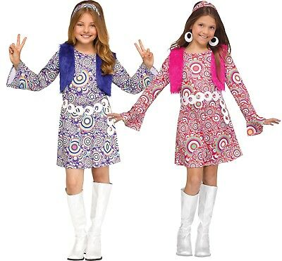 Child Shaggy Chic Hippie 60s 70s Go Go Mod Feelin Groovy Costume - 70s Costumes