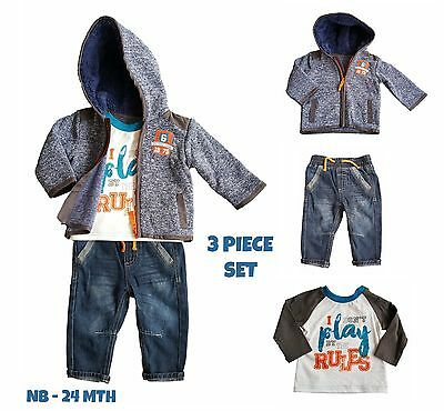 Baby Boys Jumper - Baby Boys Outfit Set Top TShirt Trousers Jeans Cardigan Jumper Hoodie Winter NEW