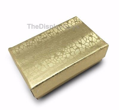 Us Sellerlot Of 12 Pcs 2 58x1 12x1 Gold Cotton Filled Jewelry Gift Boxes