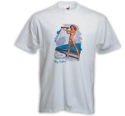 Pinup T-Shirt Hey Sailor Splendid View weiß Gil Elvgren Vintage 50´s - Hey Sailor