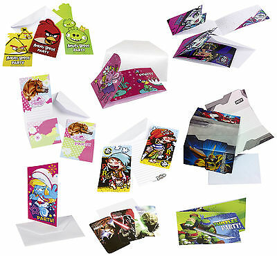 Einladungskarten inkl. Umschlag Geburtstag Kindergeburtstag Party Einladungen