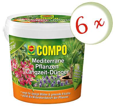 Savings Set: 6 X Compo Mediterranean Plants Long-Term, 1,5 KG