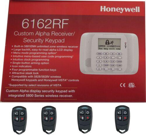 HONEYWELL SECURITY 6162RF CUSTOM ALPHA INTEGRATED + 4 5834-4 REMOTE CONTROL