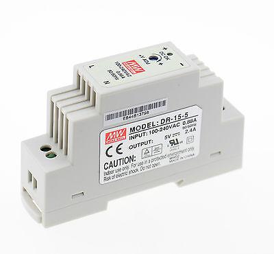 Meanwell Hutschienen Netzteil DR 15-5 5V 15W Power supply switch UL TÜV