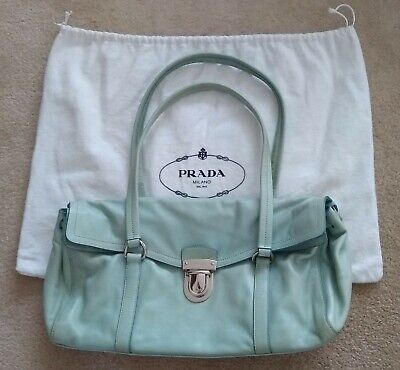 Prada Vintage Vitello Pushlock Satchel/Shoulder Bag