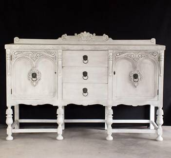 Beautiful Antique Buffet / Side Table