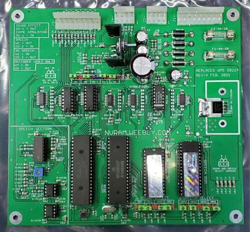 NEW Williams D8224 Sound and Speech Combination Board