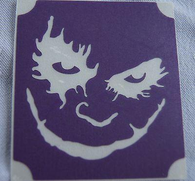 GT64 Body Art Temporary Glitter Tattoo Stencil Batman The Joker (The Joker Tattoo)