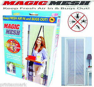 Magic Mesh Hands-Free Screen Door with magnets AS SEEN ON TV,New White Worth $29
