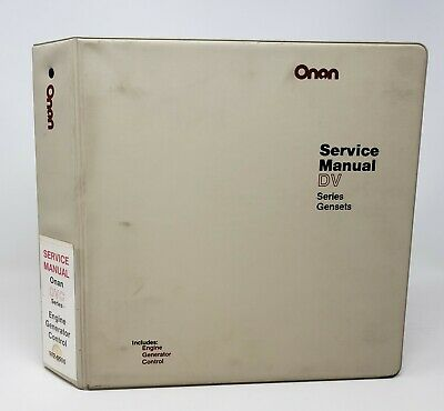 Onan Gensets Engine Generator Control Service Manuals For Dvc Series 982-0500