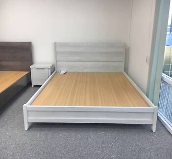 BRAND NEW BEAUTIFUL MODERN Double wooden bed & Single bed SALE