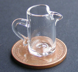 1-12-Glass-Pouring-Jug-Dolls-House-Miniature-Kitchen-Drink-Accessory-G12L