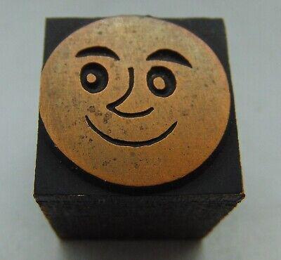 Printing Letterpress Printers Block Face Smile